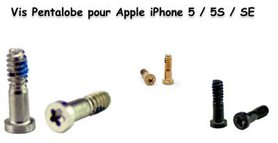 Lot de 2 Vis du Bas Pentalobe pour Apple iPhone 5 / 5S / SE