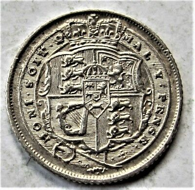 Choice  George  Iii  Sixpence  Dated  1816   Very Collectable Condition