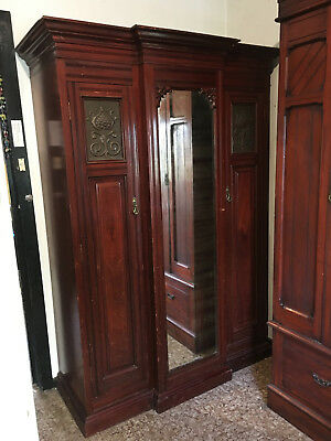 Antique Wardrobe Australian Art Nouveau 1930s