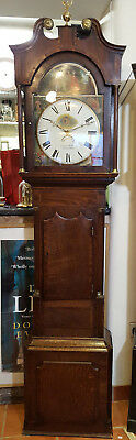 Antique Grandfather Clock with Wonderfull Painted Dial, Delivery arranged