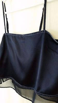 Women's Victoria's Secret, Navy Blue Spaghetti Strap Camisole.  Size Small.