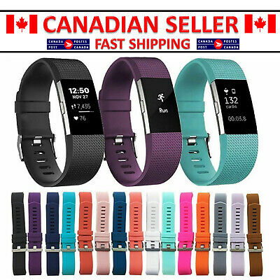 For Fitbit Charge 2 Replacement Smart Watch Strap Bracelet rubber Wrist Band