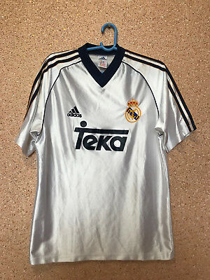 huge selection of 1a7d8 7c784 RARE REAL MADRID Spain 1998/1999/2000 Football Full Kit Jersey Maglia Adidas
