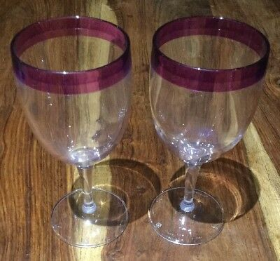 Tupperware Melamine Wine Glasses - Set Of 2