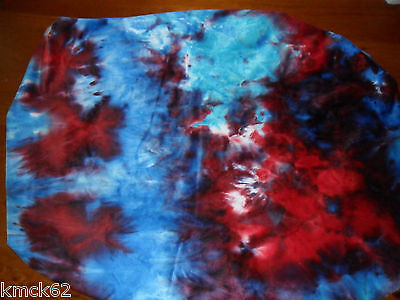 Stokke fitted nappy change cover Blues and red tie-dye 72cmx60cm limited edition