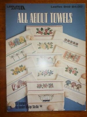Leisure Arts Leaflet 949-Cross Stitch Pattern-All About Towels - Border Designs