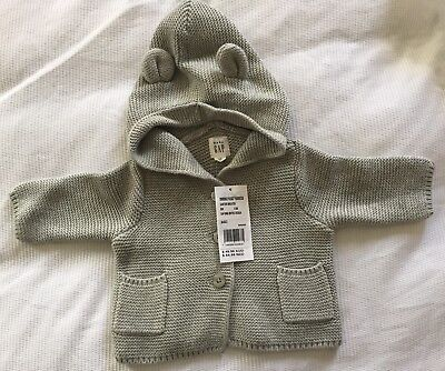 Baby Gap Knitted Hooded Cardigan Jacket 000 0-3 Months