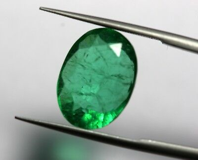Huge Size Oval Cut 7.66 Ct Man-Made Emerald Loose Rich Green Color Gemstone