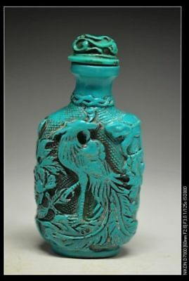 Excellent Chinese resin carved people&Bamboo & house snuff bottle ha5
