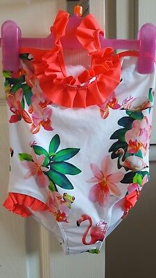 Ted Baker Girls flamingo print swimsuit 12-18 months