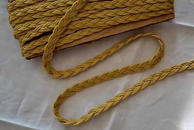 11.40_Yards_Vintage_Braided_Trim_Made_In_France_Gold_Color_