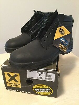 Men's OLIVER Black Lace up Workboots - Size 13 - new and unused in box