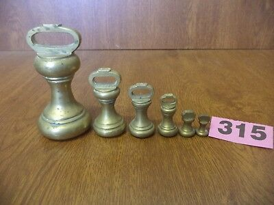Brass Imperial Bell Weights for Kitchen Scales