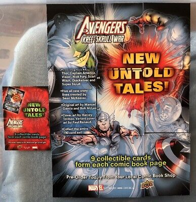 AVENGERS UPPER DECK 2011 Sdcc Promo Card Pack 10 Cards Double Sided not Chase