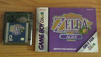 Nintendo USA The Legend of Zelda Oracle of Ages Gameboy Color GBC with book Rare