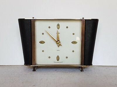 """Vintage Smiths """"winston"""" 8 Day Floating Balance Mantle / Table Clock"""