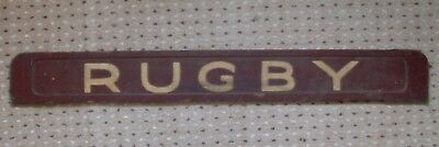 Vintage Wooden Sign ~ Rugby ~ Scarce