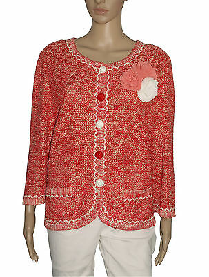 Liola Jacke Jersey - RED Strickwaren Jacke