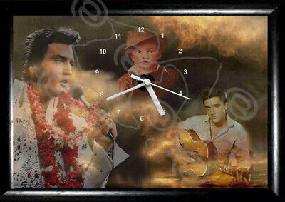 #Elvis Presley #Wall Frame Clock, Can Personalise, Novelty, Birthday, Gift, 3