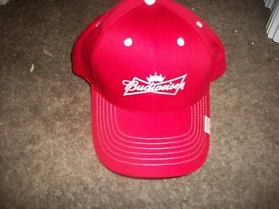 Budweiser red hat Grab some Buds king of beers logo bar birthday gift party