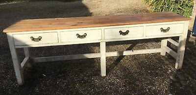 Antique rustic late Victorian Farmhouse Dresser Base/Sideboard, 4 drawers