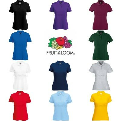 9c4d50520 FRUIT OF THE Loom Womens Lady-Fit 65/35 Polo Shirt - EUR 10,12 ...