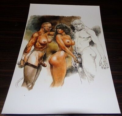 Ex Libris  Serpieri  30X20 Pin Up Tbe