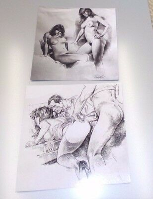 LOT 2 EX LIBRIS  SERPIERI  15x15 PIN UP TBE