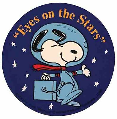 Snoopy  Apollo 11 Space  NASA  1960's Vintage Looking Travel Sticker Decal  Blue