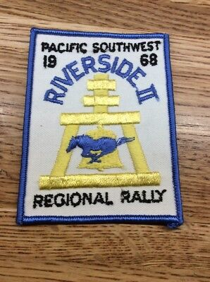 VINTAGE REGIONAL PACIFIC SOUTHWEST , RIVERSIDE lll,  1969 MUSTANG CLUB PATCH