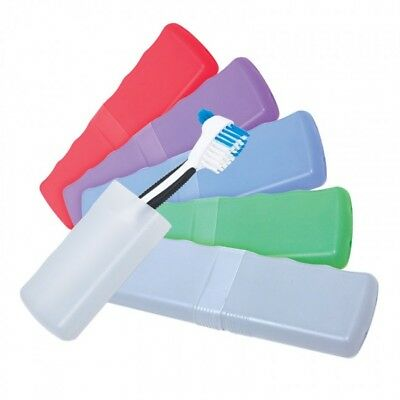 Denture Brush Case box of 50 Assorted Colors