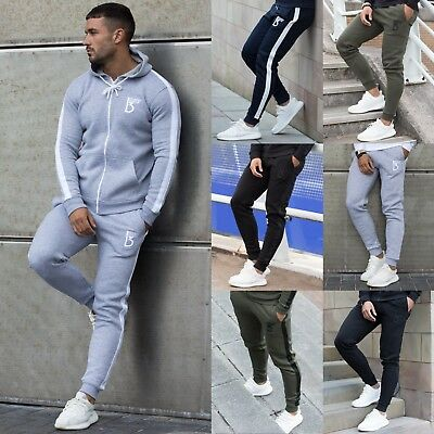 Mens Fleece Joggers Casual Sweatpants Slim Fit Tracksuit Jogging Bottoms Only