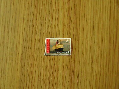 STAMPS   ISLE OF MAN   QUEEN ELIZABETH 2nd £1 STAMP 2008   FINE USED IOM