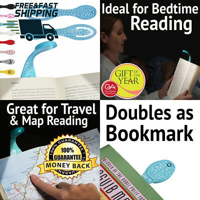Best Book Lights for Reading at Night - Small Clip on LED Lamp & Bookmark...