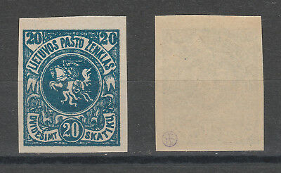 Lithuania Litauen 1920 no watermark imperforated MNH/**
