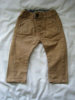 Next Baby Boy 3-6 Month Beige Camel Chino Trousers good condition hardly worn