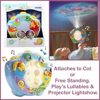 Winnie the Pooh Sweet Dreams Lightshow Baby Cot Mobile Crib Musical Projector