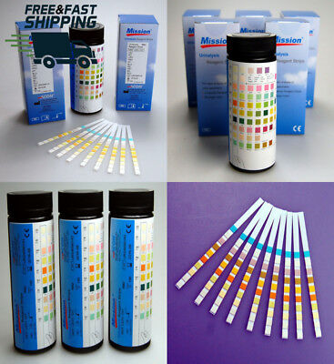 Mission 10 Parameter Professional / GP Urinalysis Multisticks Urine Strip...