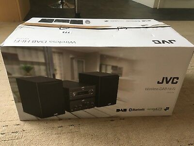 JVC UX-D750 CD MP3 Mini Micro Hi-Fi DAB FM Radio With USB Bluetooth NFC AUX 100
