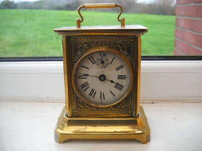 Musical Alarm Carriage Type Clock, Running But Alarm Needs Attention.