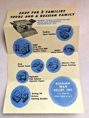 Original Vintage WWII Russian War Relief Advertisment Celebrate Homecoming WW2