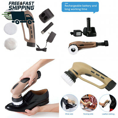 Electric Shoe Polisher Portable Power Handheld Mini Multifunctional Home Use...