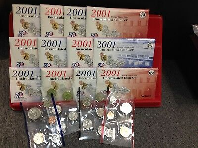 6 Set LOT of 2001 P and D Uncirculated MINT SETS