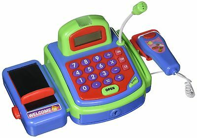 Kids Pretend Play Supermarket Cashier Electronic Cash Register Toy Perfect Gift
