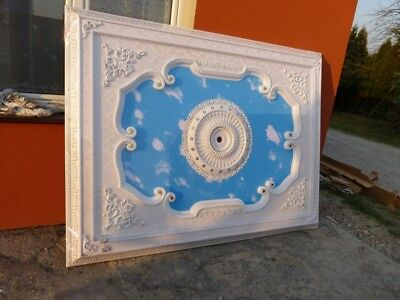 Ceiling Palace Ceiling Rose  - Gold White Blue #lu55