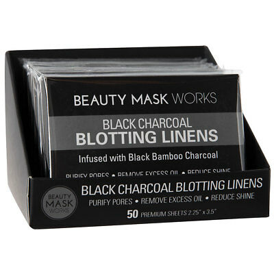 Beauty Mask Works Black Charcoal Blotting Linens
