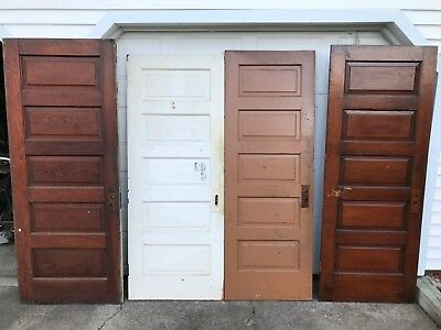 4 Antique 5 Raised Panel Interior Sliding Barn Pinterest Wood Paint Doors Pickup