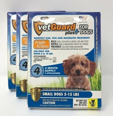 VetGuard Plus for Small Dogs - 4 Month Supply (5-15 lbs) - 3 Pack