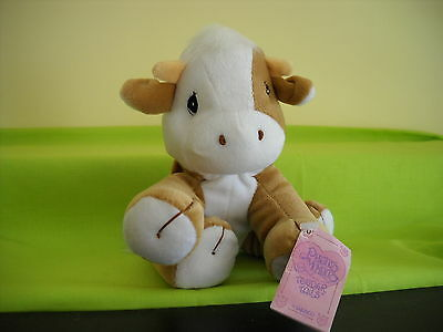 "Precious Moments-Tender Tails 6.5"" Brown & White Cow W/tag 475890"