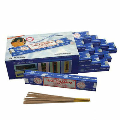 12 Packs Box Original Satya Sai Baba NAG CHAMPA Incense Sticks Joss Insence 15g